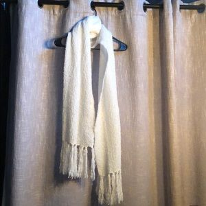 Lauren Conrad cream scarf with tassels